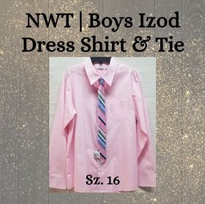 NWT | Boys IZOD Dress Shirt & Tie ~ Sz. 16